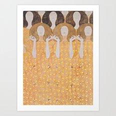 Gustav Klimt - Chor der Paradiesengel Art Print