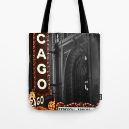Historic Chicago Theatre Tote Bag