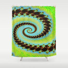 fractal mandelbrot art Shower Curtain