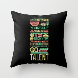 Lab No. 4 Getting Ahead Sophia Loren Motivational Quotes Throw Pillow