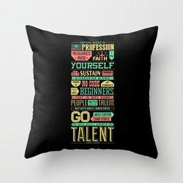 Lab No. 4 Getting Ahead Sophia Loren Motivational Quotes Throw Pillow