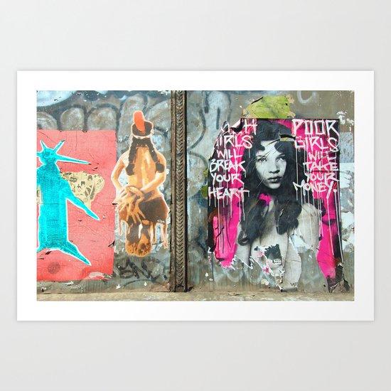 Rich Girl Poor Girl Art Print