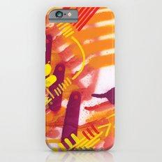 Yellow on Orange iPhone 6s Slim Case