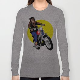 Biker Chimp Long Sleeve T-shirt