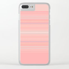 Coral Stripe with Slight Teal Accent Clear iPhone Case