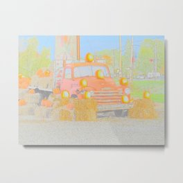 Old Classic Truck Water Color Metal Print