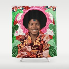 Jackson as a guru kid with afro Shower Curtain