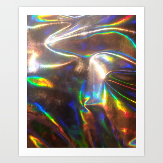 Holographic Art Print By Viviennart Society6