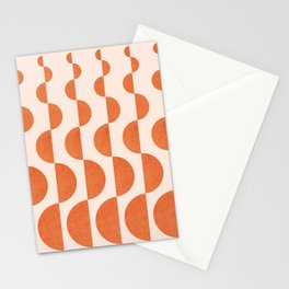 Abstraction_ROUND_WAVES_Minimalism_001 Stationery Cards