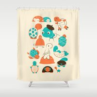 turtles Shower Curtains featuring Turtles by Jay Fleck