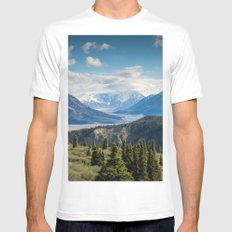 Mountain Landscape # sky Mens Fitted Tee MEDIUM White