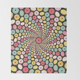 Donut Swirl Throw Blanket