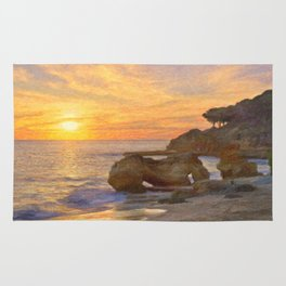 Olhos sunset, Portugal Rug