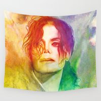 michael scott Wall Tapestries featuring Michael by Aurora Wienhold