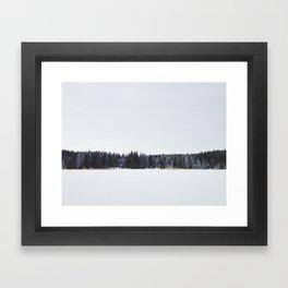 Across a Winter Lake Framed Art Print