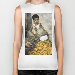 Varanasi little girl Biker Tank