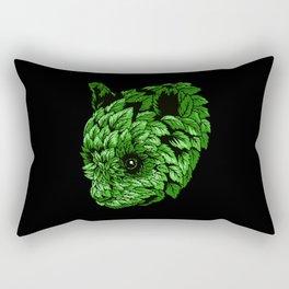 Green Panda Rectangular Pillow
