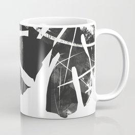 Monstera Leaf Black Coffee Mug