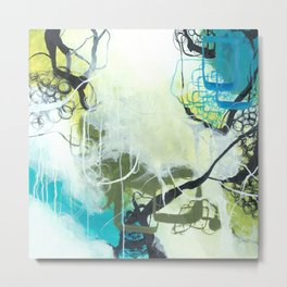 Everglades - Square Abstract Expressionism Metal Print