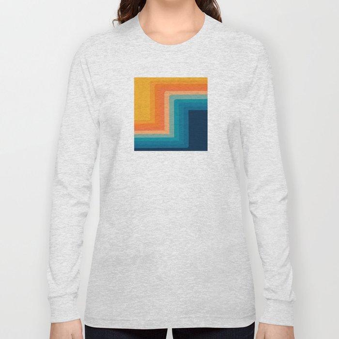 Retro 70s Color Lines Long Sleeve T-shirt