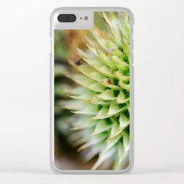 Unexpected Beauty: Thistle 1 Clear iPhone Case