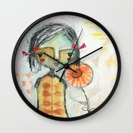 Red Bow Wall Clock