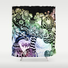 Mushroom Field Shower Curtain