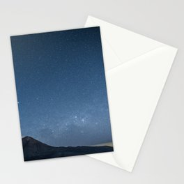 Night, volcano Stationery Cards