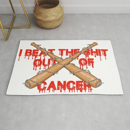 beating cancer Rug