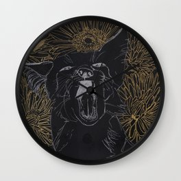 silver fox Wall Clock