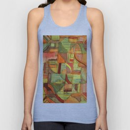 Patchwork Unisex Tank Top