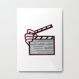 Movie Clapboard Hand Cartoon Metal Print