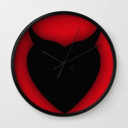 Heart Series Love Black Devil Horns Love Valentine Anniversary Birthday Romance Sexy Red Hearts Vale Wall Clock