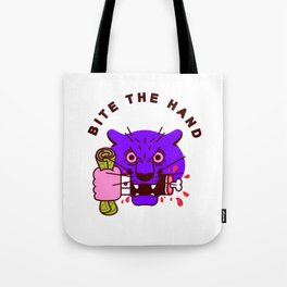 Bite the Hand Tote Bag