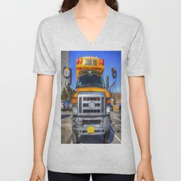 American School Bus Unisex V-Neck
