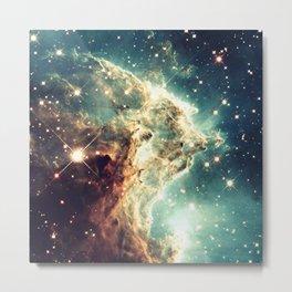 Monkey Head Nebula. Dreamy Teal Metal Print