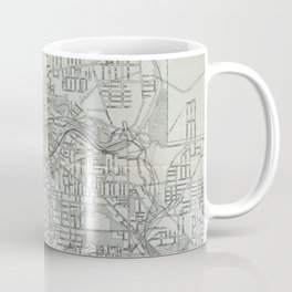 Vintage Map of Akron Ohio (1917) Coffee Mug