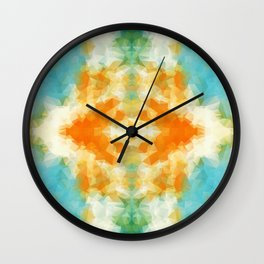"""Poncho mood"" triangles design Wall Clock"
