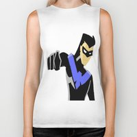 nightwing Biker Tanks featuring Nightwing by LouisaD
