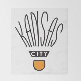 Kansas City Shuttlecock Type Throw Blanket