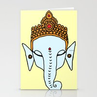 ganesha Stationery Cards featuring Ganesha by RaJess