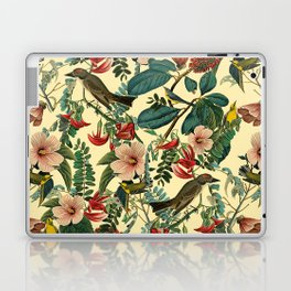 FLORAL AND BIRDS VII Laptop & iPad Skin