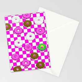 A King Cake Donut Stationery Cards