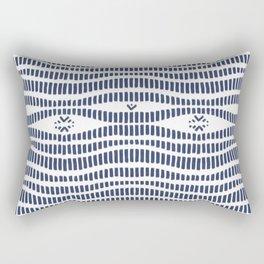 Indigo Pattern - Indigo / Navy & White Rectangular Pillow