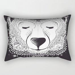 Dreaming Polar Bear Rectangular Pillow