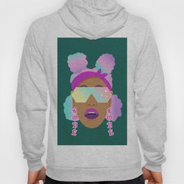 Top Puffs Girl #naturalhair #rainbowhair #shades #lipstick #blackunicorn #curlygirl Hoody