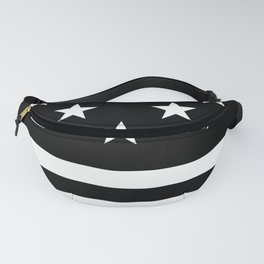 US Flag (Black/White) Fanny Pack