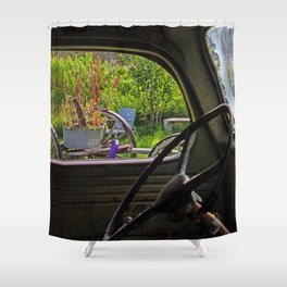 Window in Time Shower Curtain
