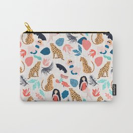 Tropical girls and Cheetah Carry-All Pouch
