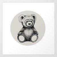 teddy bear Art Prints featuring Teddy Bear by Nicole Cioffe